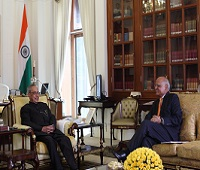 With honourable president Pranab Mukherjee