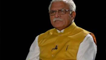 Haryana Chief Minister Manohar Lal in Sidhi Gal With Prabhu Chawla