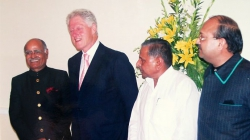 With 42nd U.S. President Bill Clinton