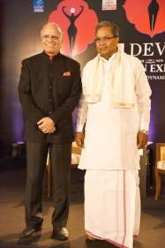 Karnataka chief minister Shri Siddaramaiah at devi awards