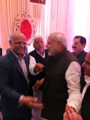 With Prime Minister Narendra Modi at the wedding reception at Ashoka Hotel, New Delhi